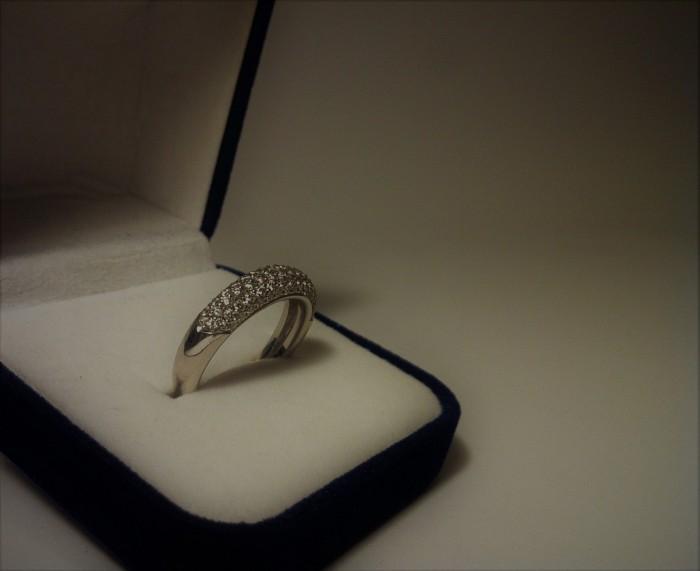 Prsten od Bijelog Zlata sa Briljantima