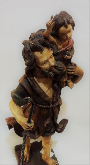 Drvena Skulptura sv. Kristofor